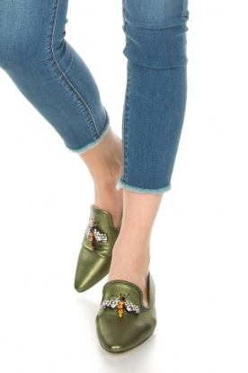 Toral |  Metallic loafer Cadmio | Green