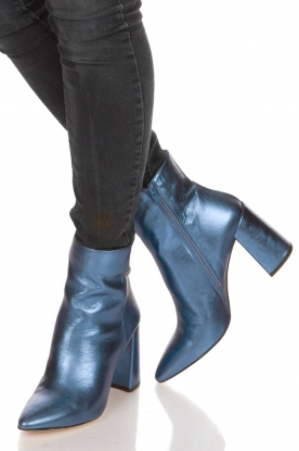Toral |  Metallic ankle boots Lolita | Blue