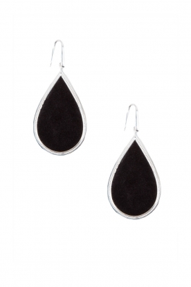 Close to Zen |  925 sterling earrings Little Tears of Joy big | black