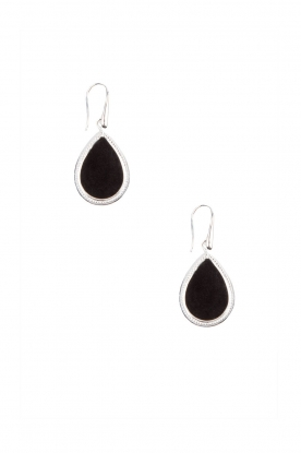 Close to Zen | 925 sterling oorbellen Little Tears of Joy klein | zwart