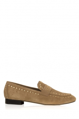 Toral |  Loafer with golden studs | sand