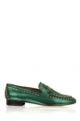 Toral |  Loafer with golden studs | green