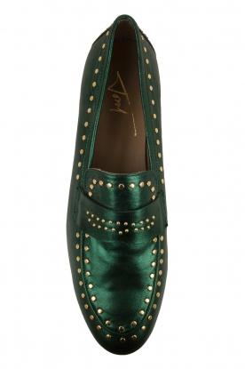 Toral   Loafers met gouden studs Alisa   groen