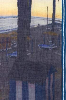 Becksöndergaard | Sjaal Blue Beach | blauw