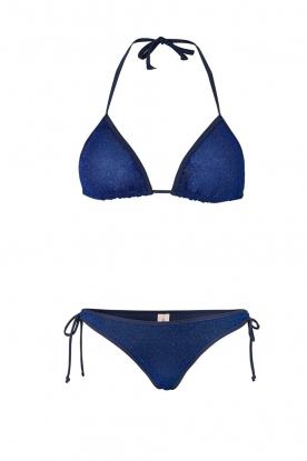 Becksöndergaard | Triangelbikini Glitter | blauw