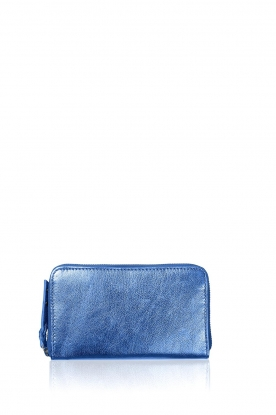 Becksöndergaard | Metallic portemonnee Lobo Glitz | blauw