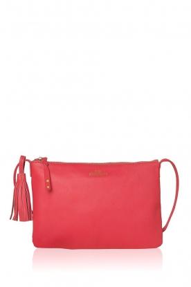 Becksöndergaard |  Leather shoulder bag Lymbo | pink