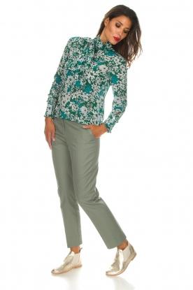 Essentiel Antwerp   Pantalon Runched   groen