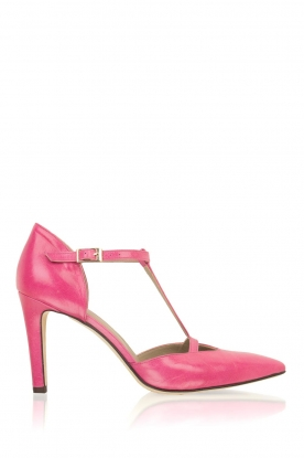 Noe |  Leather pumps Hot Pink | pink
