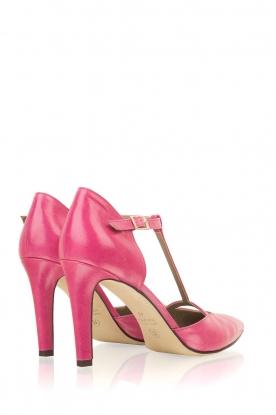 Noe | Leren pumps Hot Pink | roze