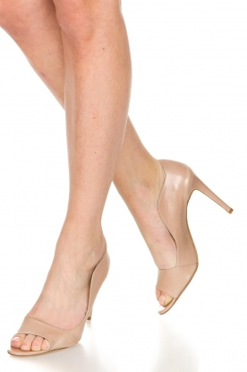 Noe |  Leather pumps Noom | nude