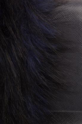 Essentiel Antwerp | Schoudertas met nepbont Rioca | blauw