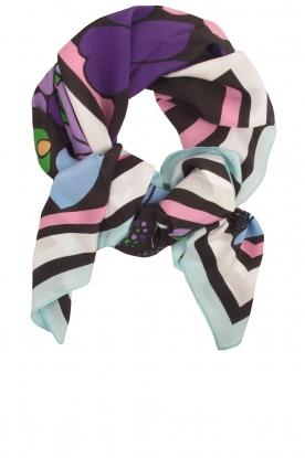 Essentiel Antwerp   Zijden sjaal Reshape   blauw