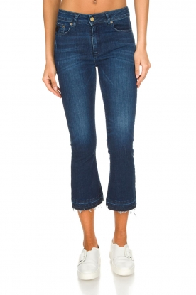 Lois Jeans |  Mid-rise flared jeans Marbella | dark blue