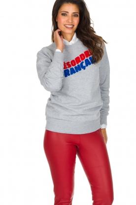 French Disorder | Luxe sweater Désordre Français | lichtgrijs