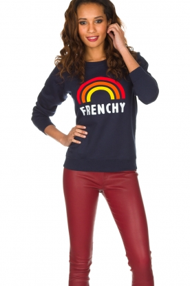 French Disorder | Luxe sweater Frenchy | Donkerblauw