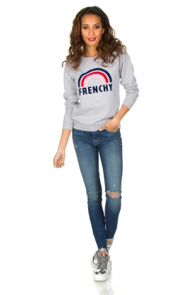 French Disorder | Luxe sweater Frenchy | Lichtgrijs