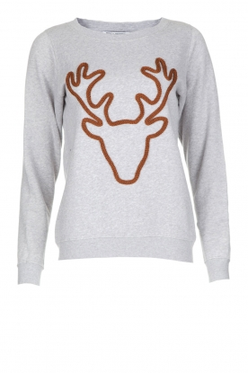 French Disorder | Luxe sweater Rudolph | lichtgrijs