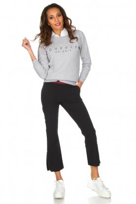 French Disorder | Luxe sweater Gueule De Bios | Lichtgrijs