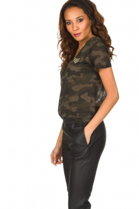 RAILS | T-shirt Military Camo Cara | legergroen