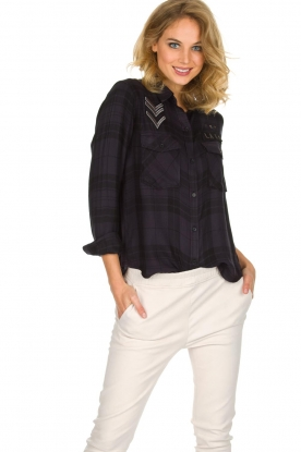 RAILS | Blouse Pepper | Zwart/paars