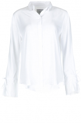 RAILS |  Blouse with tied trumpet sleeves Astrid White | white