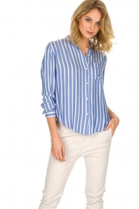 RAILS | Gestreepte blouse Aly Hermosa Stripe | blauw