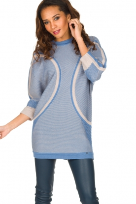 ELISABETTA FRANCHI |  Fine knitted sweater Rosia | Blue