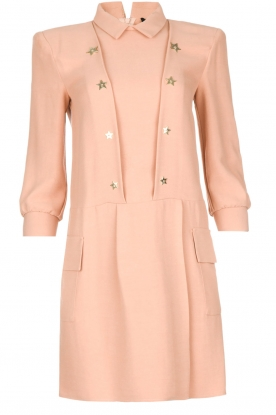ELISABETTA FRANCHI |  Dress with stars Michela | Old pink