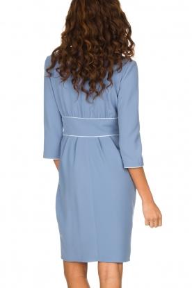 ELISABETTA FRANCHI | Overslag jurk Eloise | Blauw