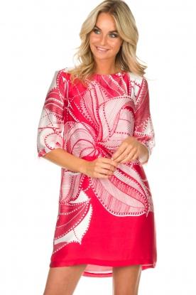 Ana Alcazar | Zijden jurk Nairy | rood