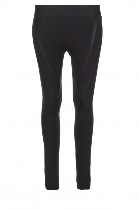 Nunu |  Sports leggings Funky V | black