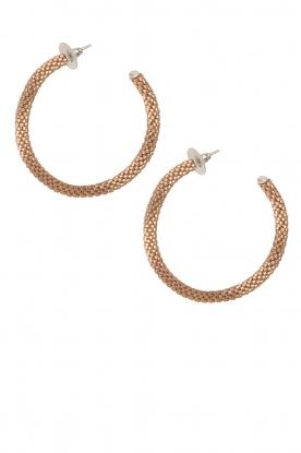 Tembi | Oorbellen van kralen Beaded Large | goud