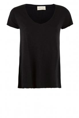 American Vintage | T-shirt Jacksonville | zwart