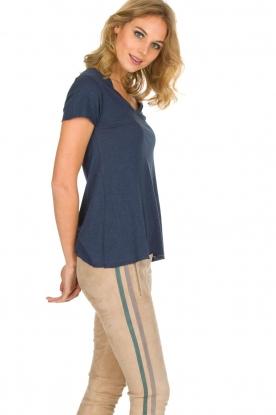 American Vintage | T-shirt Jacksonville | donkerblauw