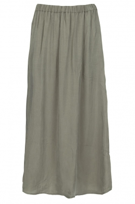 American Vintage |  Maxi skirt Meadow | khaki green