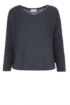 American Vintage |   Fine knitted sweater Vacaville | dark grey