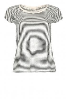 American Vintage | Gestreept T-shirt Ixatown | wit