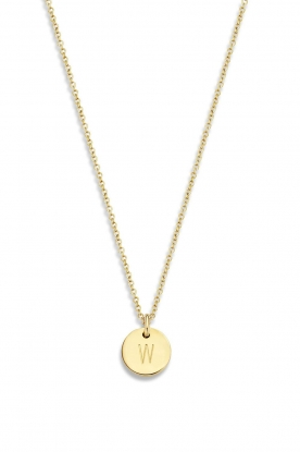 Just Franky | 14kt golden necklace Coin 40 cm | yellow gold