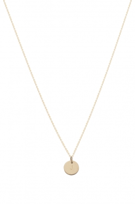 Just Franky |  14kt golden necklace Coin 43 cm | gold