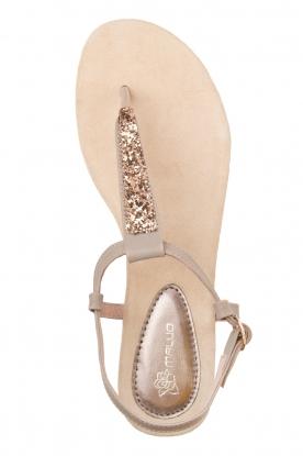 Maluo | Leren sandalen Mabel | lichtgrijs