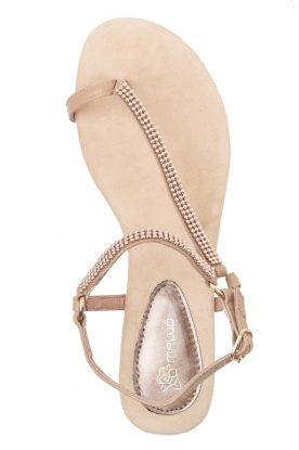 Maluo | Leren sandalen Kells | beige