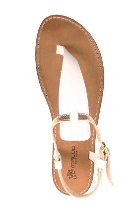 Maluo |  Leather sandals Mace | white