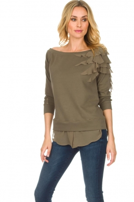 Patrizia Pepe |  Off-shoulder sweater Claire | green
