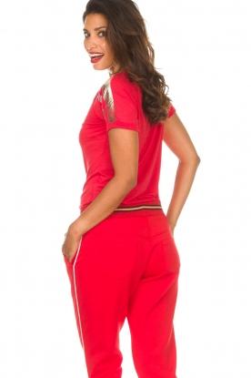 Patrizia Pepe | T-shirt Mary | rood
