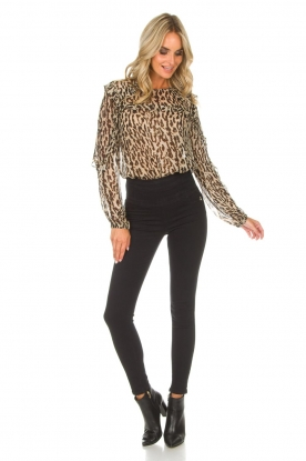 Patrizia Pepe | High waist stretch jeans Sevella | Zwart