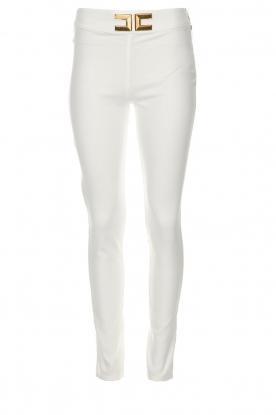 ELISABETTA FRANCHI | High waisted broek Penelope | wit
