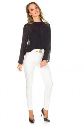 ELISABETTA FRANCHI | High waisted broek Penelope | wit