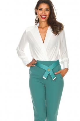 ELISABETTA FRANCHI |  Body blouse Mireille | white