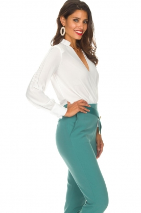 ELISABETTA FRANCHI | Body blouse Mireille | wit